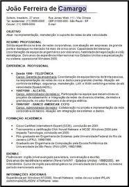 Modelos De Curriculum Prontos Avare Guia Avare Guia Oficial Da