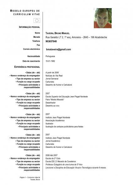 Curriculum Vitae Exemplos Seroton Ponderresearch Co