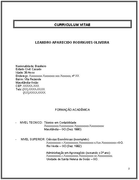 Curriculum Para Primeiro Emprego Avare Guia Avare Guia Oficial
