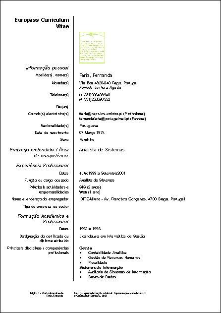 Curriculum Vitae Simples Em Portugues Avare Guia Avare Guia