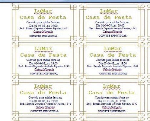 Convites Individuais Para Imprimir Avaré Guia Avaré Guia