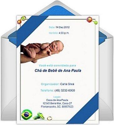 Convites Virtuais Para Chá De Bebê Avaré Guia Avaré Guia