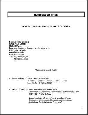 curriculum vitae brasileiro para iniciantes
