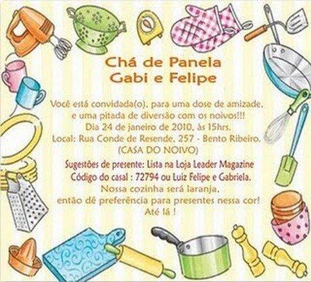 Convites De Chá De Panela Avaré Guia Avaré Guia Oficial Da