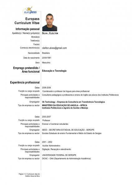CURRICULUM VITAE EUROPASS Avar Guia Avar Guia Oficial da – Europass Curriculum Vitae