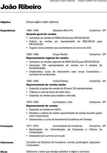 Objetivo Para Curriculum Avaré Guia Avaré Guia Oficial