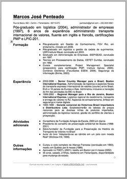 Exemplo Curriculum Vitae Avare Guia Avare Guia Oficial Da