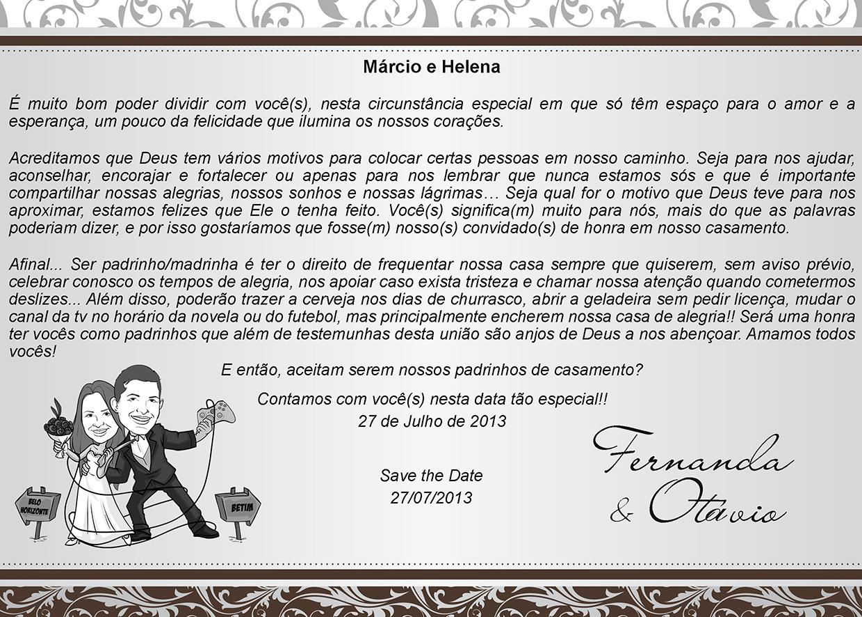 Convite Para Padrinhos De Casamento Avaré Guia Avaré Guia