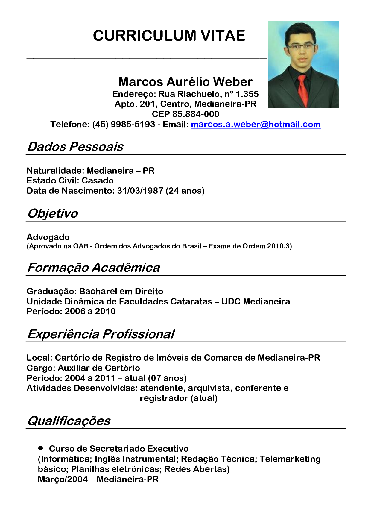 Modelo De Curriculum Vitae 2014 - Simple Instruction Guide Books •
