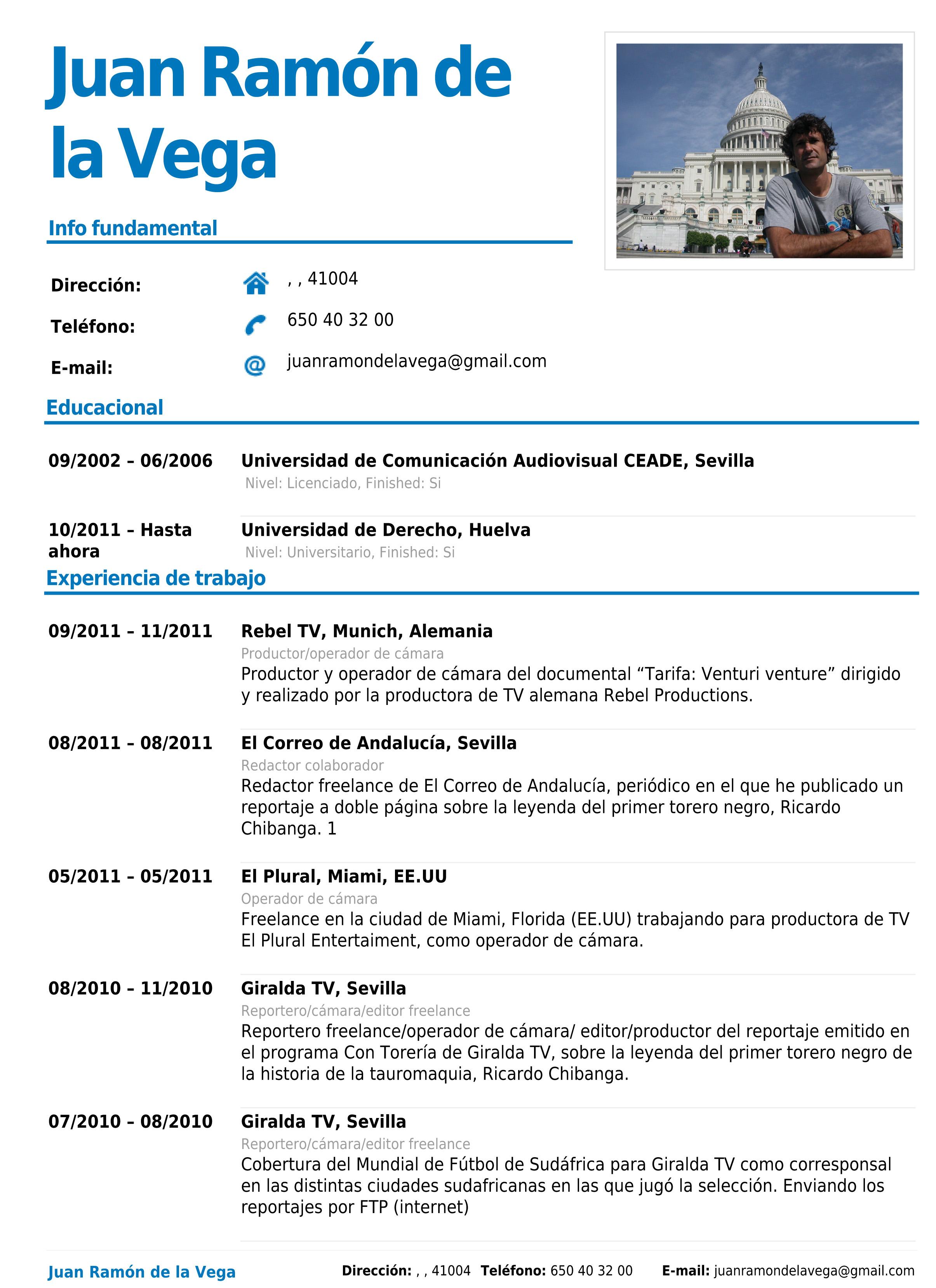 Magnífico Descargar Curriculum Vitae Formato Para Conferenciante Pdf ...