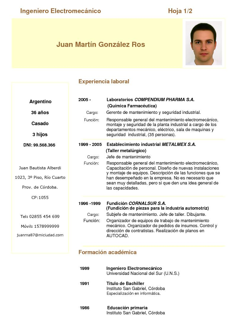 Modelo De Curriculum Vitae Actualizado 2015 Peru Homework World War 2