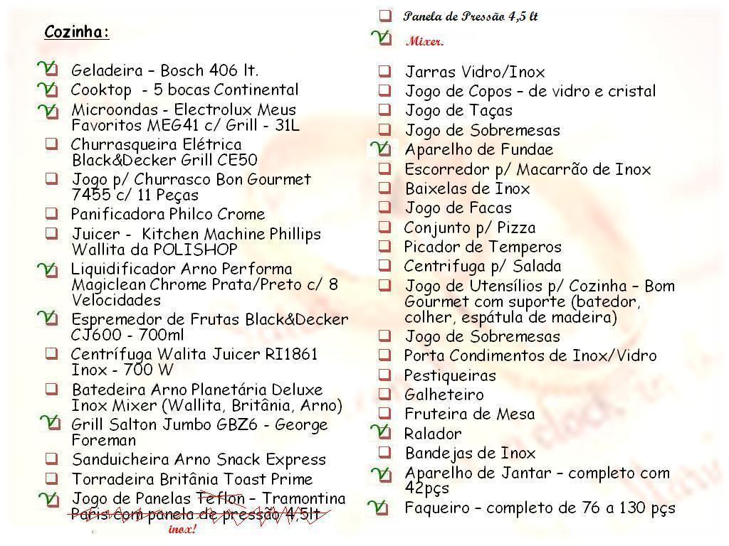 Utensilios De Cozinha Lista Completa Oppenau Info