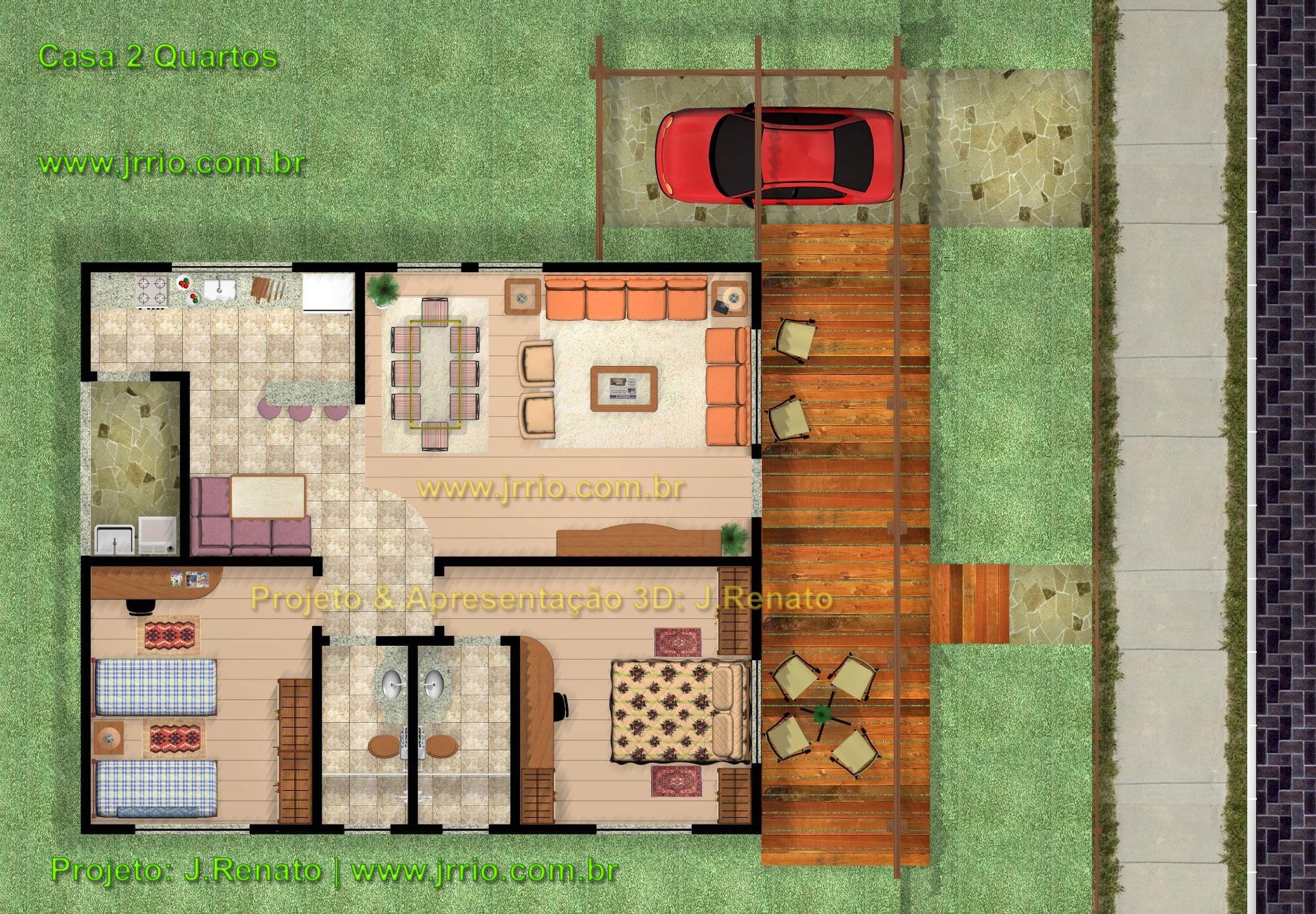 Planta De Casas Com 2 Quartos E Cozinha Americana Avar Guia