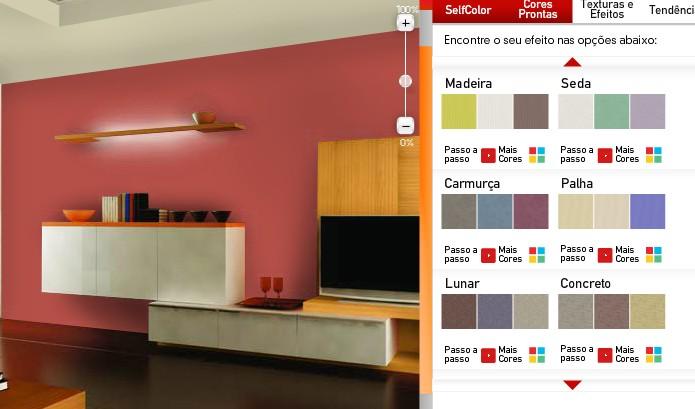 Cores de tintas foto escolher as cores tintas ver as - Simulador pintura casa ...
