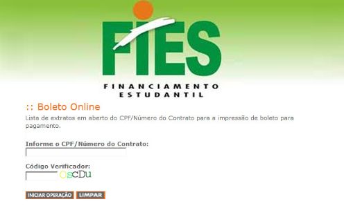 Como Imprimir boleto do fies financiamento