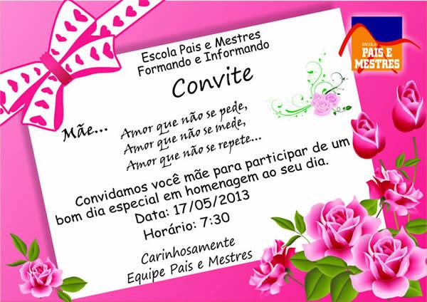 Convite Para O Dia Das Mães Avaré Guia Avaré Guia