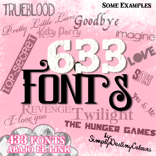 Download de fontes para photoscape fonts