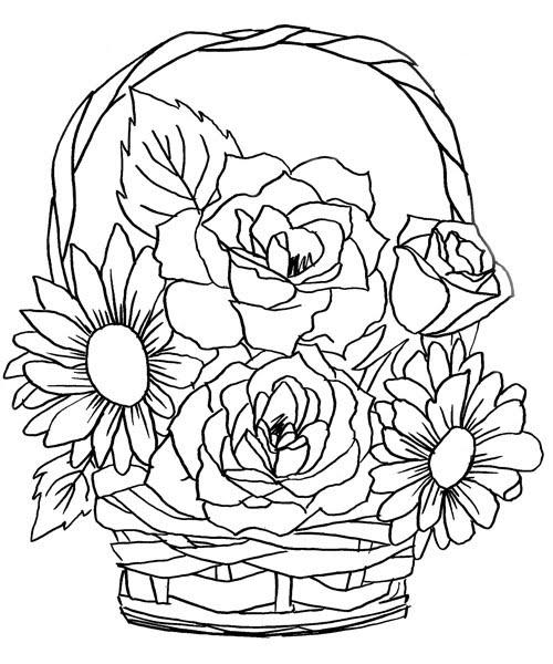 Imagens De Flores Para Colorir E Fotos De Flores Para