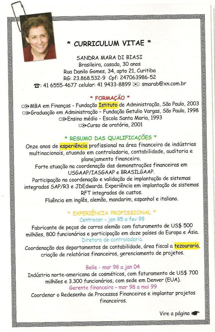 Modelo de Curriculum Vitae  Modelo De Curriculum Lattes f29833dd9119d